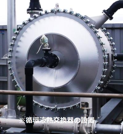 写真:循環液熱交換器の設置.png
